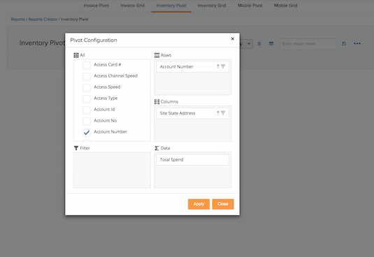 Create reports based on your needs